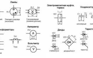 Условные обозначения на схемах электроснабжения