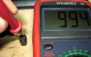 Как измерить сопротивление тестером