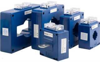 Подключение трансформатора тока к счетчику