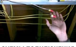 Электросхема светильника дневного света