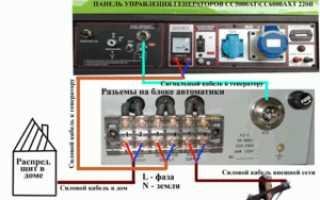 Схема подключения генератора к сети дома