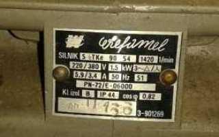 Пусковые токи электродвигателей таблица
