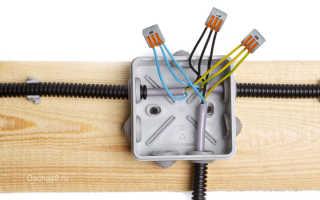 Монтаж проводов в распределительной коробке