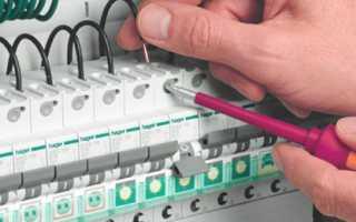 Схема подключения автоматического выключателя