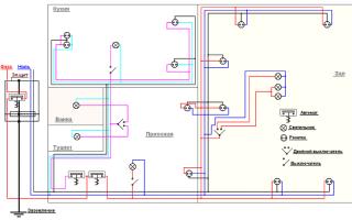 Схема электропроводки двухкомнатной квартиры