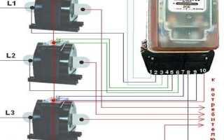 Схема подключения трехфазного счетчика через трансформаторы тока