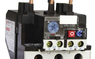 Расчет теплового реле для электродвигателя